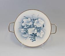 7945030 Keramik Tortenplatte mit Metallmontierung um 1910 Weinreben