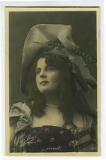 c 1904 French Glamour THEATER BEAUTY Mlle Verena undivided back photo postcard