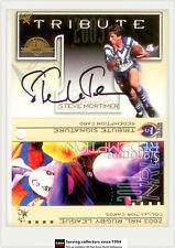 2003 Select NRL XL Card Series Game Worn Guernsey Redemption Jc2 Steve