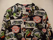 Men's Fun Multi-Color King Size 100% Rayon Button Front Shirt-L Tall