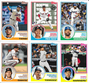 2018 Topps Update 1983 Topps Anniversary Inserts - You Pick - Complete your set!