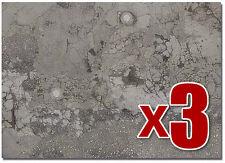 usé Asphalte TARMAC ( Busch 7416) - 3 x 2 OO/HO décor feuilles F1