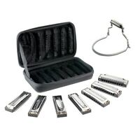 Hohner Blues Band 7 Piece Harmonica Set With Harmonica Holder