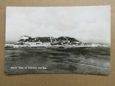 Vintage c1950s Gibraltar and Bay Aerial View Real Photo Postcard