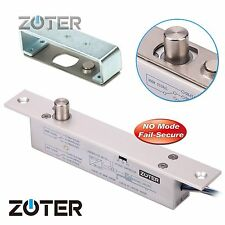 ZOTER Electric Deadbolt Drop Bolt Door Lock Low Temperature Timer NO Mode DC 12V