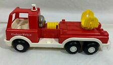 Vintage Fisher Price Little People Red Fire Truck Rare
