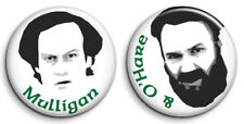 Set of 2 VIC REEVES, MULLIGAN & O'HARE 25mm Button Badges. FREE POST