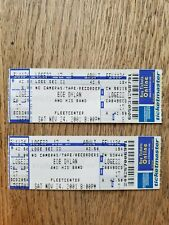 Bob Dylan and His Band Concert Tickets - Unused, Fleet Center, Boston 11/24/2000