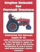 Farmall Tractor M H Super 300 400 Series 330 340 350 W-400  Engine Rebuild DVD