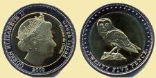 TRISTAN da CUNHA Gough 2009 25 pence bimetal OWL UNC #S18