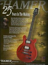 Hamer 25th Anniversary Limited Edition Guitar ad 8 x 11 advertisement print