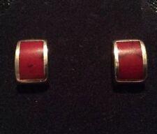 Garnet Stud Stone Sterling Silver Handcrafted Earrings