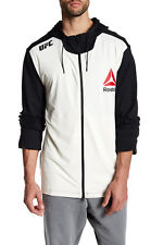 Brand New Reebok UFC Zip-Up Hoodie Black/Croyal AI7301 100% Authentic Size S