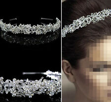 Hair Full Crystal Wedding Bridal Tiara headband Flower Leaf