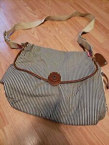 Babymel Diaper Bag, Unisex stripe Tote