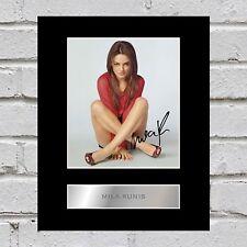 Mila Kunis Signed Photo Display