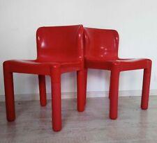 2 Chaise design 70 Kartell Modèle 4875 Design Carlo Bartoli vintage iconic