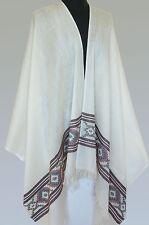 Handwoven Kullu Valley White Wool Shawl India Jamavar Stole from Himalayas Yoga