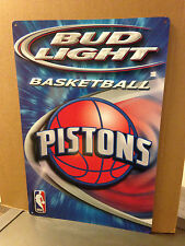 DETROIT PISTONS- NBA BUD LIGHT ORIGINAL BEER SIGN
