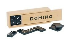 Domino Dominospiel Goki 28 Spielsteine  im Holzkasten 15335  - neu -