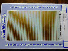 """Microscale Decal #91143 Barricade Stripes 6"""" Wide - Gold (1:87 Scale)"""
