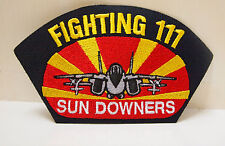 2 AIRPLANE FIGHTING 111 SUN DOWNERS PATCH NAVY FIGHTER SQUADRON VFC SUNDOWNERS