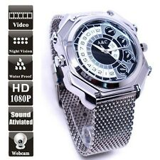 12MP HD 1080P Waterproof Spy Watch Camera Voice Activated DVR Mini DV 16GB W9