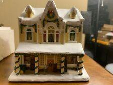 John Deere Antiques & Auction House Christmas Village Thomas Kinkade Hawthorne
