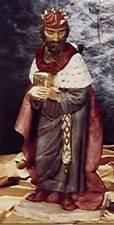 Natividad Castagna Melchior con dorado 32x28x68cm para 65 cm CUNA Intemperie