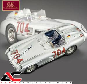 CMC M-124 1:18 1955 MERCEDES 300 SLR MILLE MIGLIA #704 HANS HERRMANN SIGNED