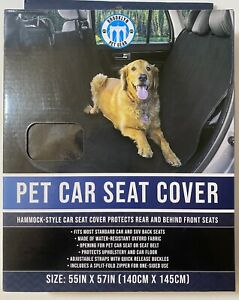 New Brooklyn Gear Pet Car Seat Cover, Fits most cars and SUV Back Seats