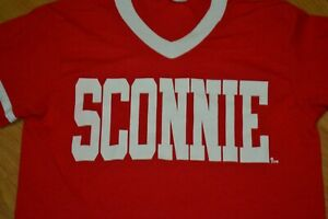 University of Wisconsin Badgers SCONNIE Retro Jersey T Shirt Small Nice