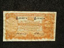 Australia 10 Shillings note/paper money.