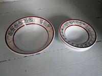 VINTAGE RETRO BRITISH ANCHOR STAFFORDSHIRE HOSTESS TABLEWARE 7 BOWLS SET BOWL