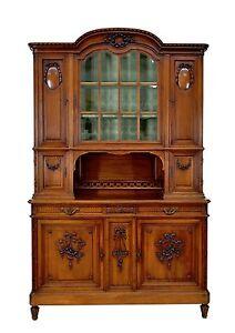 Antique French Louis XVI Walnut Buffet Sideboard Cabinet