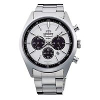 ORIENT Neo70's neo-Seventies WV0041TX Solar Chronograph Watch Milky White JAPAN