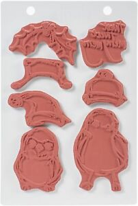 """Dina Wakley Media Cling Stamps 6""""X9""""-Scribbly Holiday Birdie 2"""