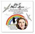 VERA LYNN LOCKDOWN RAINBOW Card We'll meet again Some sunny DAY Personalised UK