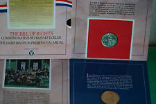 1993 Bill of Rights SILVER Half Dollar Coin 50c and Madison Medal US Mint Set