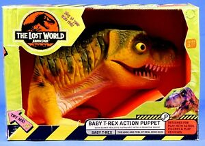 JURASSIC PARK LOST WORLD BABY T-REX ACTION PUPPET 1997 NEW
