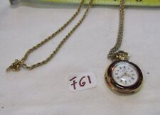 Swiss Made Elgin Vintage Mechanical Wind Up Necklace Pendant Watch F61