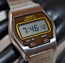 RARE! SEIKO 0664-5000 1976 LC Quartz LCD Digital watch James Bond NEW BATTERY!