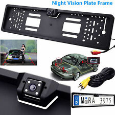 170° HD Car Rear View Reversing Camera Backup Plate Night Vision Parking IR LEDs