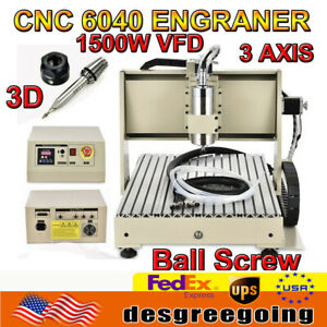 3 Axis 1500W 6040 CNC Router 3D Engraver USB Engraving Drilling Milling Machine