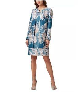 Tahari ASL Women's Floral-Jacquard Topper Jacket Size 14 - $179 FREE SHIPPING