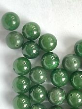 10 Pair (20 Pieces) Quality Select 1/2 Drilled Jade Stone Beads - 8mm Round