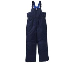 Faded Glory Boys' Blue  Snow Bib Size XS (4-5) Polyester Color Navy Blue