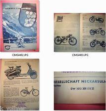 ✪altes original Antik Prospekt NSU - FOX , 125 ZDB, Quick , 251 OSL, Lambretta