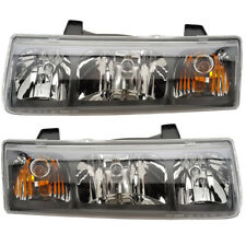 2002-2004 Saturn Vue Driver & Passenger Side Headlights Lamps Assembly Pair Set
