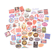 55x Retro Style Travel Hotel Logo Stickers Trip Luggage Waterproof Sticker Toy S